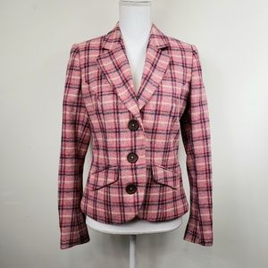 Boden Plaid Wool fitted blazer